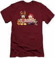 Garfield slim-fit t-shirt Christmas Banner mens cardinal