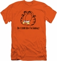 Garfield slim-fit t-shirt Do I Look Like I'm Kidding mens orange