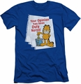 Garfield slim-fit t-shirt Duly Noted mens royal