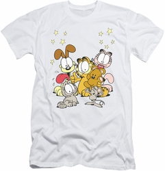 Garfield slim-fit t-shirt Friends Are Best mens white