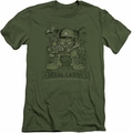 Garfield slim-fit t-shirt General Laziness mens military green