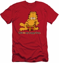 Garfield slim-fit t-shirt Happy Face mens red