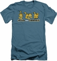 Garfield slim-fit t-shirt Hello And Goodbye mens slate