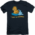 Garfield slim-fit t-shirt I Don't Do Mornings mens navy