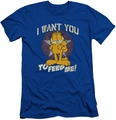 Garfield slim-fit t-shirt I Want You mens royal