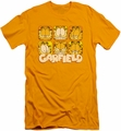 Garfield slim-fit t-shirt Many Faces mens gold
