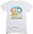 Garfield slim-fit t-shirt Merry And Striped mens white