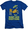Garfield slim-fit t-shirt Money Is Everything mens royal