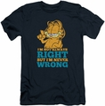Garfield slim-fit t-shirt Never Wrong mens navy