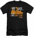 Garfield slim-fit t-shirt Not Lazy mens black