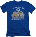 Garfield slim-fit t-shirt Not Lazy mens royal