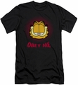 Garfield slim-fit t-shirt Obey Me mens black