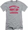 Garfield slim-fit t-shirt Property Of Lasagna mens athletic heather