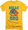 Garfield slim-fit t-shirt Relax Bro mens yellow