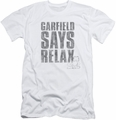 Garfield slim-fit t-shirt Relax mens white