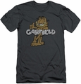 Garfield slim-fit t-shirt Retro Garf mens charcoal