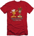 Garfield slim-fit t-shirt Share The Season mens red