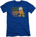 Garfield slim-fit t-shirt Smiling mens royal