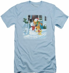 Garfield slim-fit t-shirt Snow Fun mens light blue