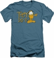 Garfield slim-fit t-shirt They Did It mens slate