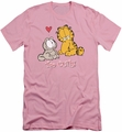 Garfield slim-fit t-shirt Too Cute mens pink