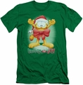 Garfield slim-fit t-shirt Unwrap The Joy mens kelly green