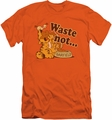 Garfield slim-fit t-shirt Waste Not mens orange