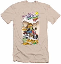 Garfield slim-fit t-shirt Wild One mens cream