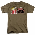 Garfield t-shirt All Hail The King mens safari green