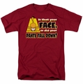 Garfield t-shirt Attractive mens cardinal