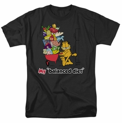 Garfield t-shirt Balanced Diet mens black