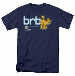 Garfield t-shirt Be Right Back mens navy