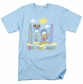 Garfield t-shirt Beach Bums mens light blue