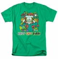 Garfield t-shirt Best Gift Ever mens kelly green