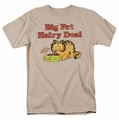 Garfield t-shirt Big Fat Hairy Deal mens sand