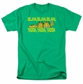 Garfield t-shirt Blah Blah Blah mens kelly green