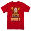 Garfield t-shirt Boo! mens red