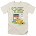 Garfield t-shirt Buy In Bulk mens cream