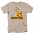 Garfield t-shirt Call In Sick mens sand