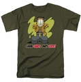 Garfield t-shirt Candy Good mens military green