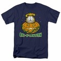 Garfield t-shirt Cat O Lantern mens navy