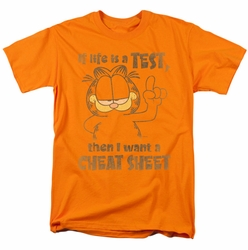 Garfield t-shirt Cheat Sheet mens orange
