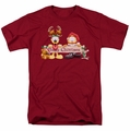Garfield t-shirt Christmas Banner mens cardinal