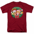 Garfield t-shirt Christmas Wreath mens cardinal