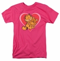 Garfield t-shirt Cute N Cuddly mens hot pink
