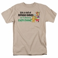 Garfield t-shirt Difficult Choices mens sand