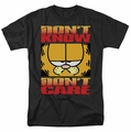 Garfield t-shirt Don't Know Don't Care mens black