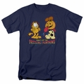 Garfield t-shirt Drooling Pumpkins mens navy