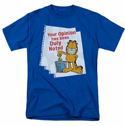 Garfield t-shirt Duly Noted mens royal