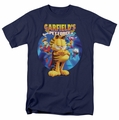 Garfield t-shirt Dvd Art mens navy